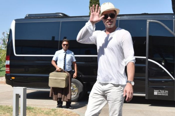 Brad Pitt u Šibeniku, Foto: Dino Stanin / Pixsell